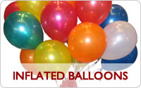 Inflated balloons